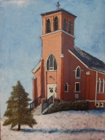St. Patrick's in Winter ~ Sold