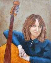 Marilyn Cummins, Self Portrait with Bass (NFS)