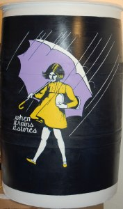 """When it rains, it stores."" Won ""peoples' choice"" award in the first Rain Barrel Art Review of the Missouri River Communities Network, 2009."