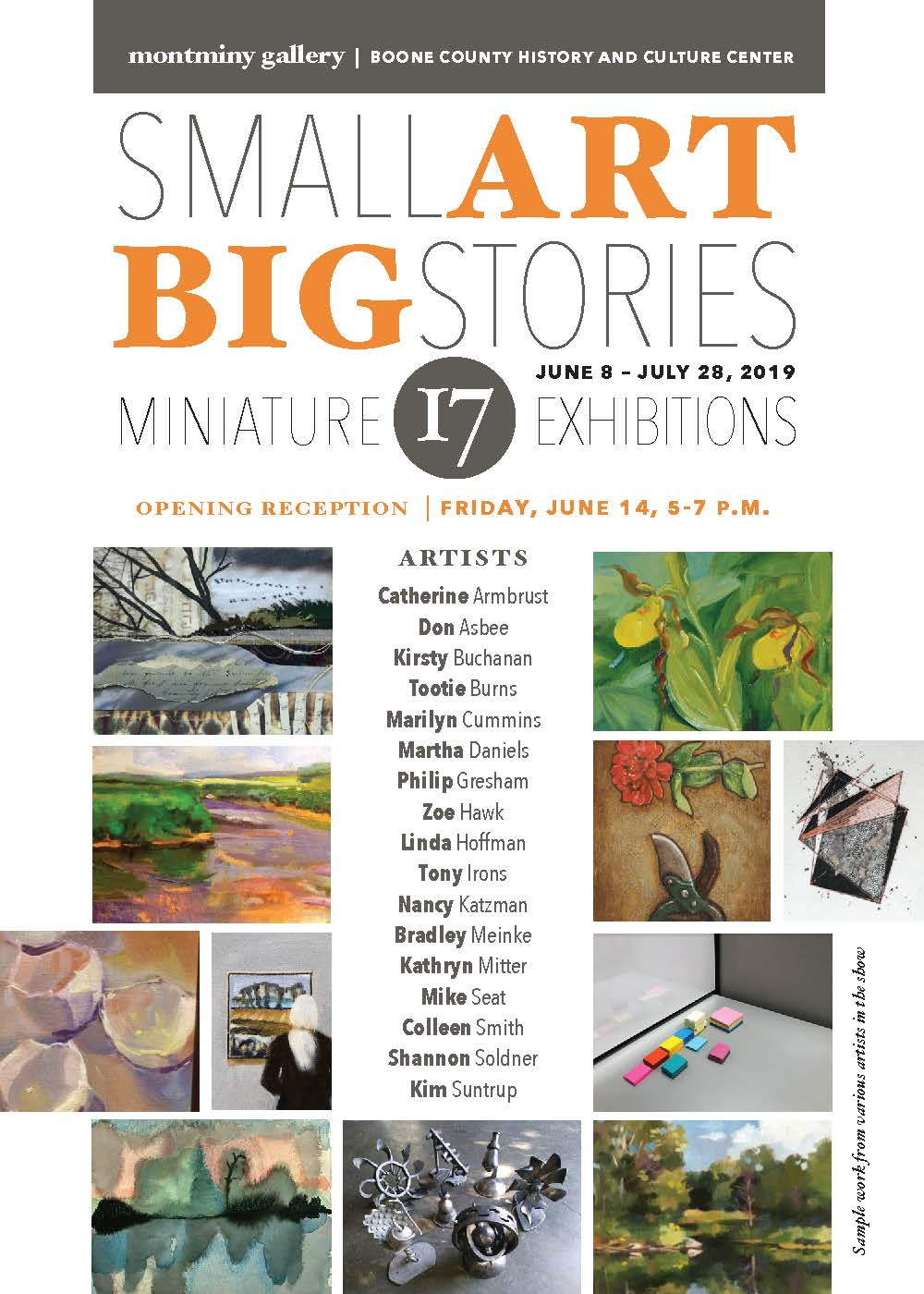 Small Art|Big Stories Show Card